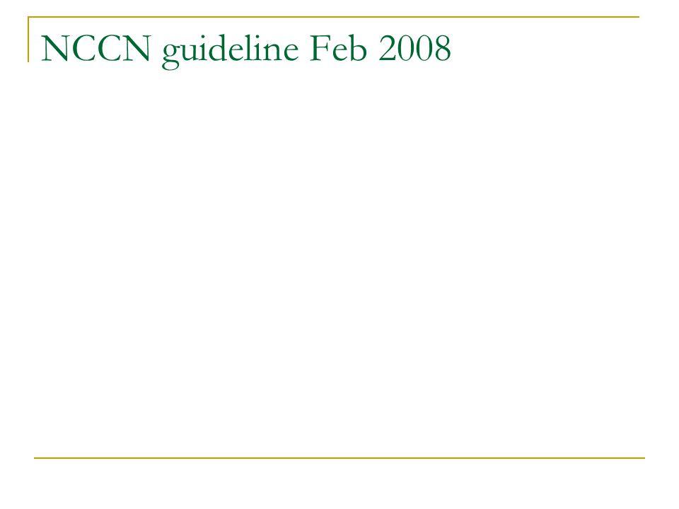 NCCN guideline Feb 2008