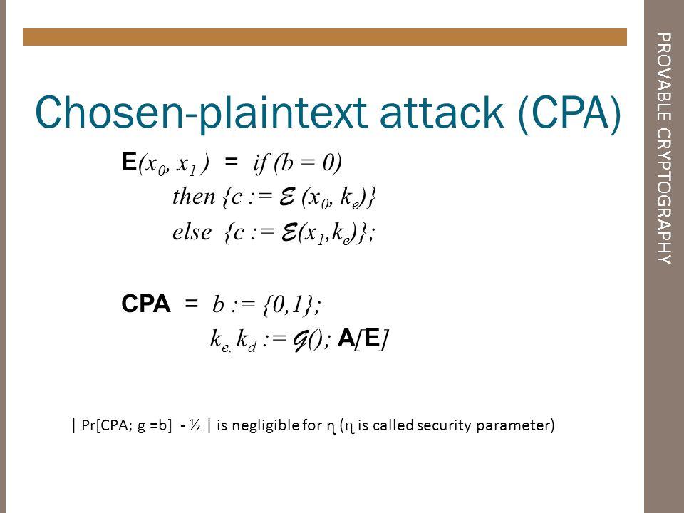 THEOREM Theorem Paillier encryption scheme is resistent to Chosen Plaintext Attacks