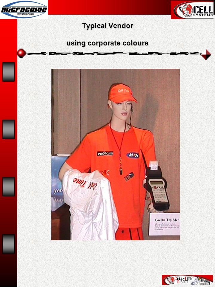 Typical Vendor using corporate colours