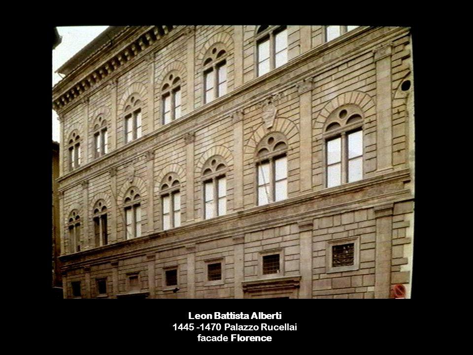Leon Battista Alberti 1445 -1470 Palazzo Rucellai facade Florence