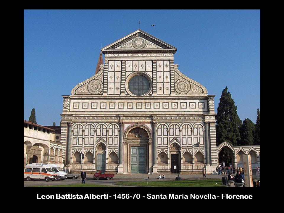 Leon Battista Alberti - 1456-70 - Santa Maria Novella - Florence