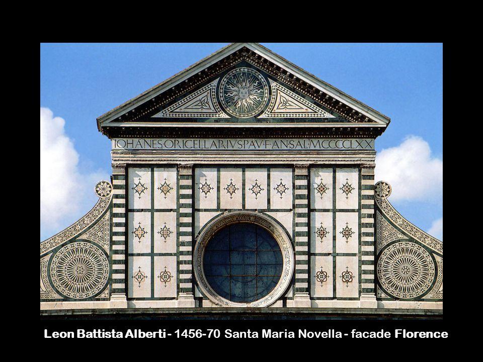 Leon Battista Alberti - 1456-70 Santa Maria Novella - facade Florence