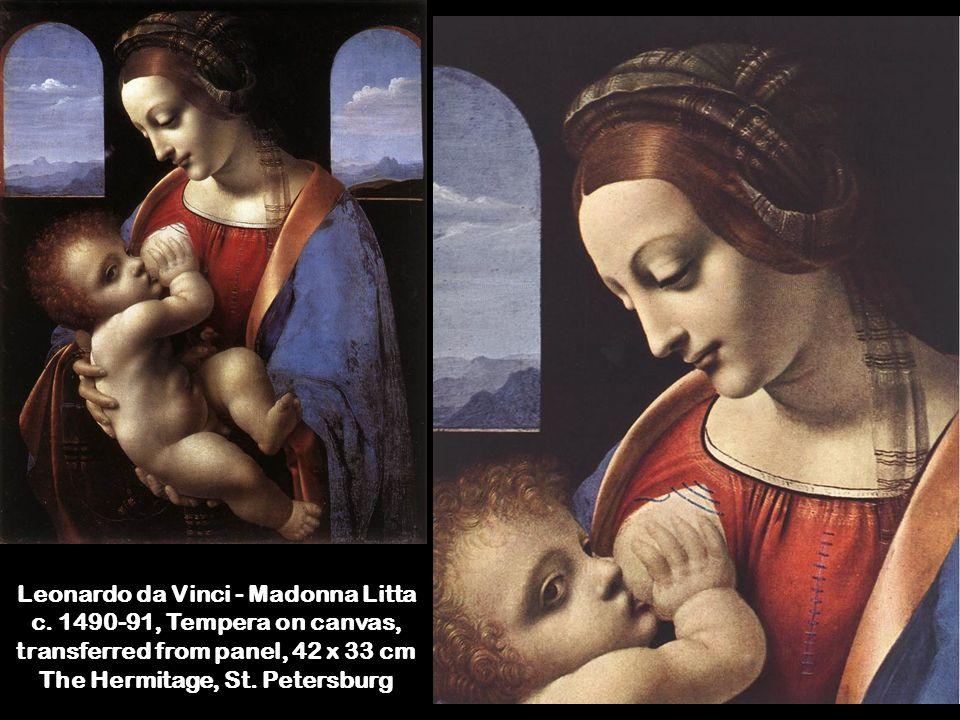 Leonardo da Vinci - Madonna Litta c.