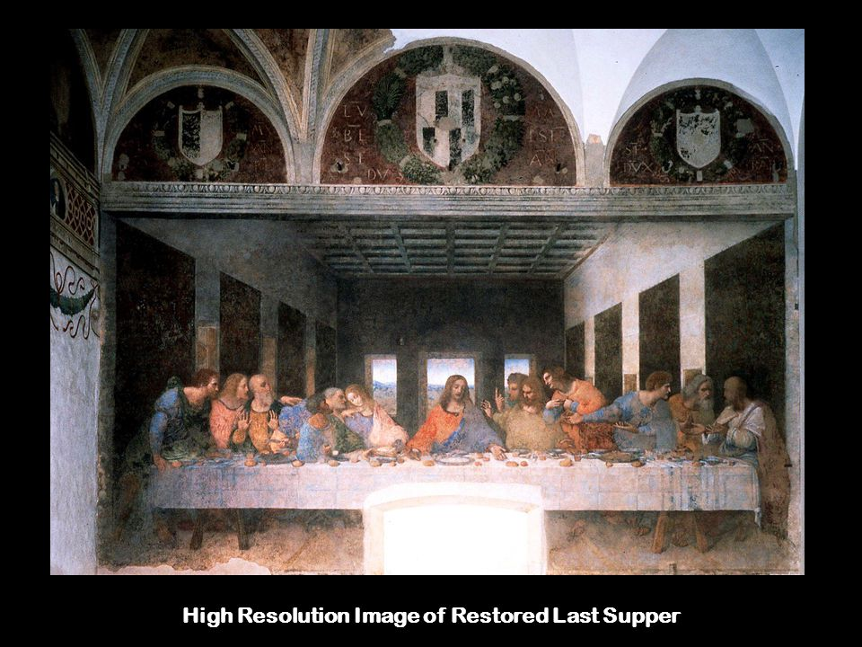 High Resolution Image of Restored Last Supper