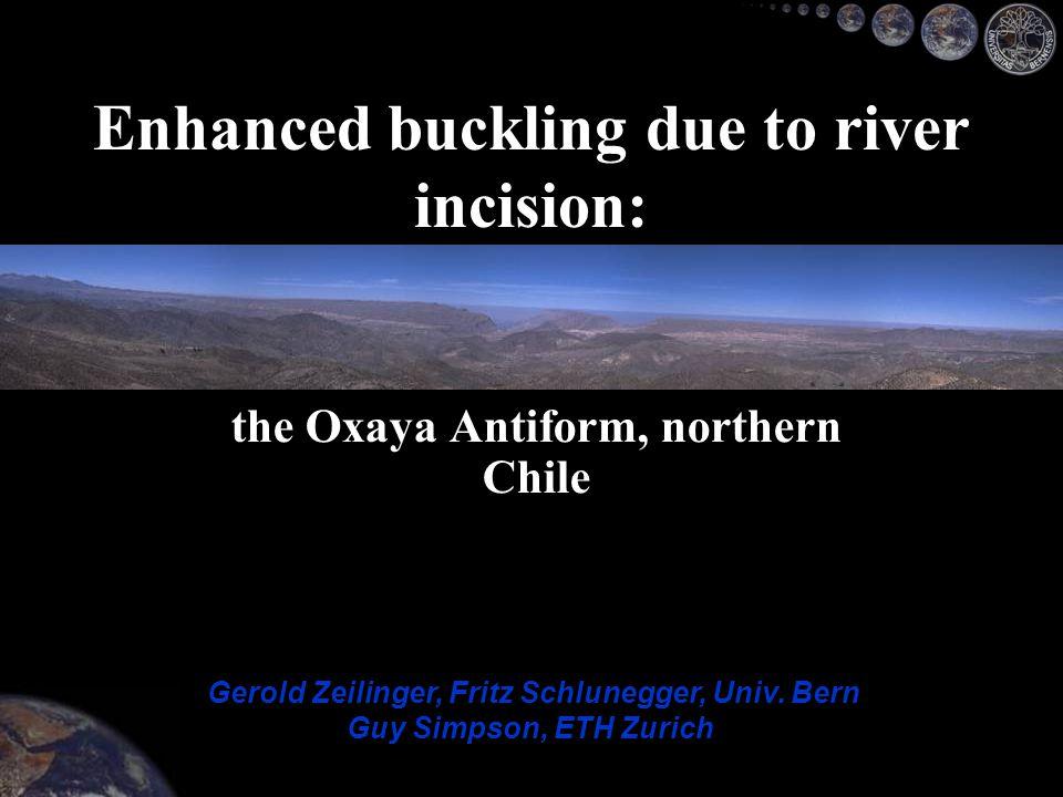 Oxaya Surface Diablo EW Timing of anticline growth Interpretation Eroded area