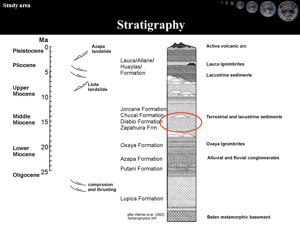 Stratigraphy Study area