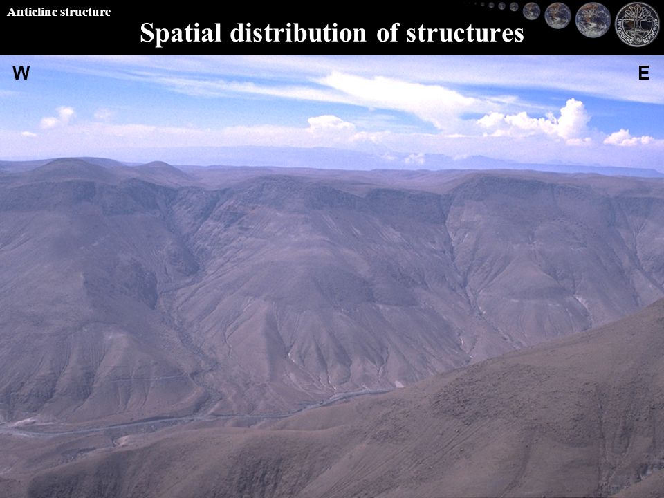 WE Spatial distribution of structures Anticline structure