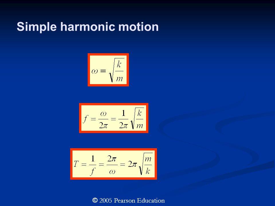 Simple harmonic motion © 2005 Pearson Education