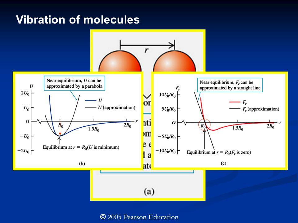 Vibration of molecules © 2005 Pearson Education