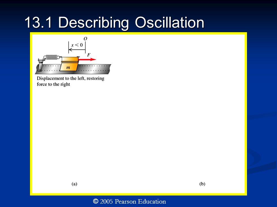 13.1 Describing Oscillation © 2005 Pearson Education