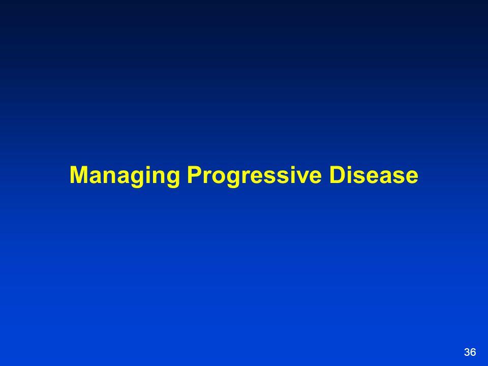 36 Managing Progressive Disease