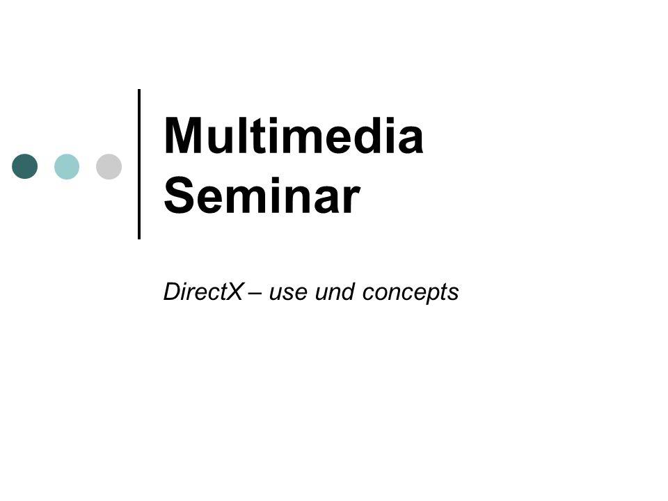 Multimedia Seminar DirectX – use und concepts