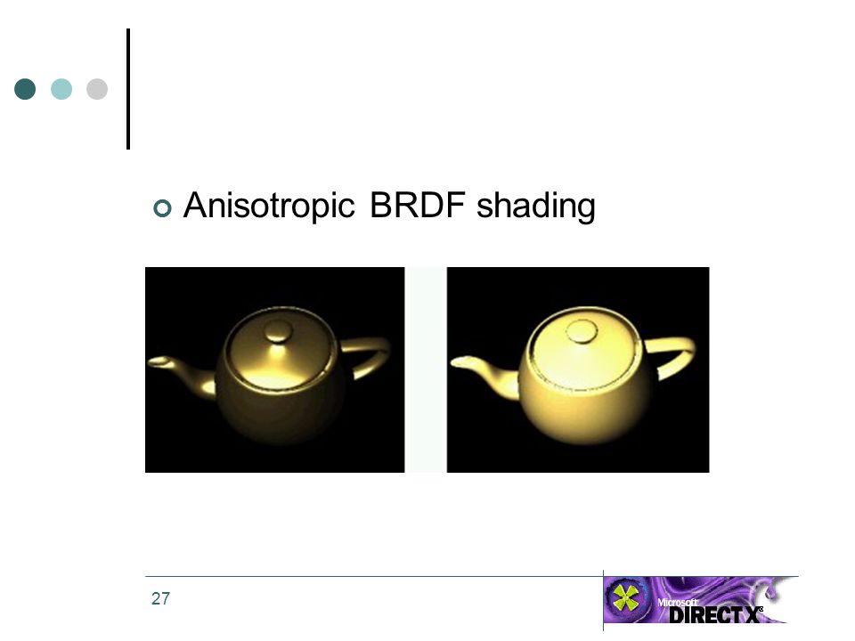 27 Anisotropic BRDF shading