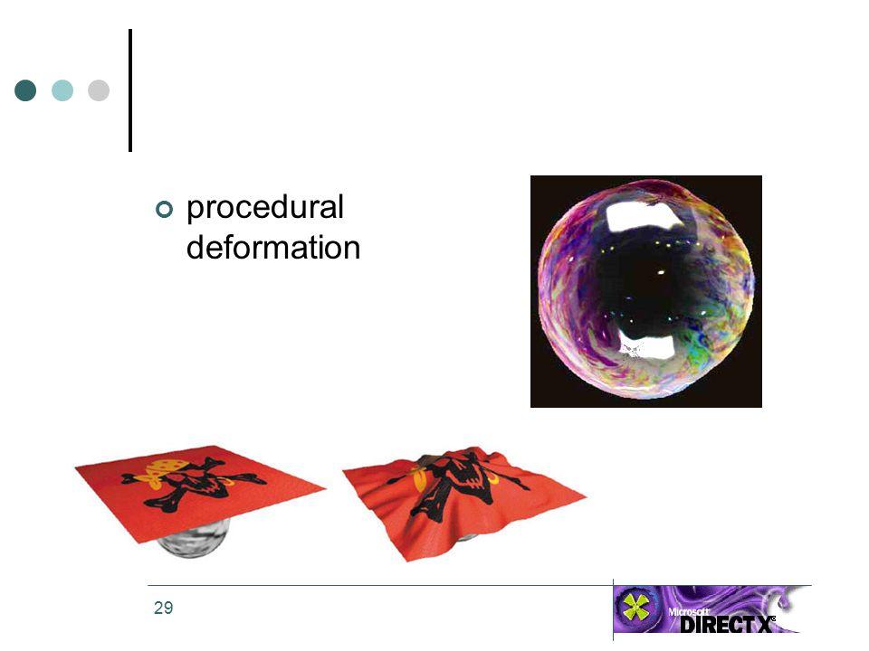 29 procedural deformation
