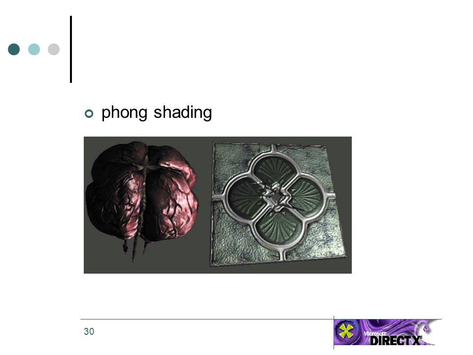 30 phong shading