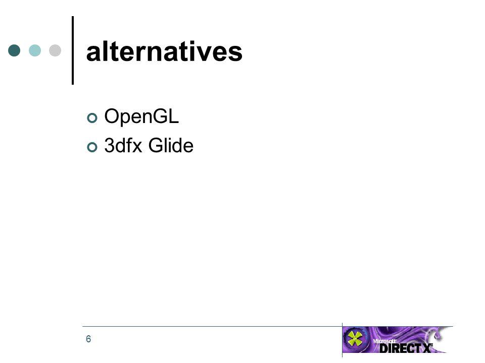 6 alternatives OpenGL 3dfx Glide