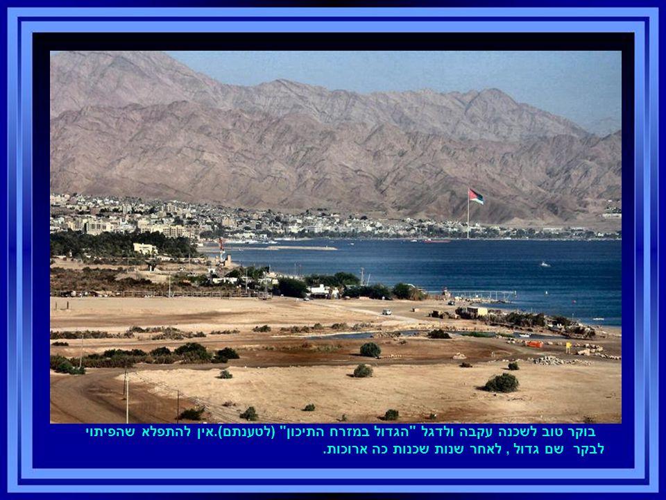בוקר טוב לשכנה עקבה ולדגל הגדול במזרח התיכון (לטענתם).אין להתפלא שהפיתוי לבקר שם גדול, לאחר שנות שכנות כה ארוכות.