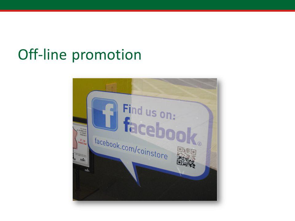 Off-line promotion