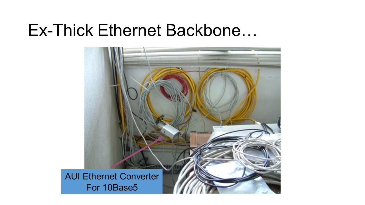 Ex-Thick Ethernet Backbone… AUI Ethernet Converter For 10Base5
