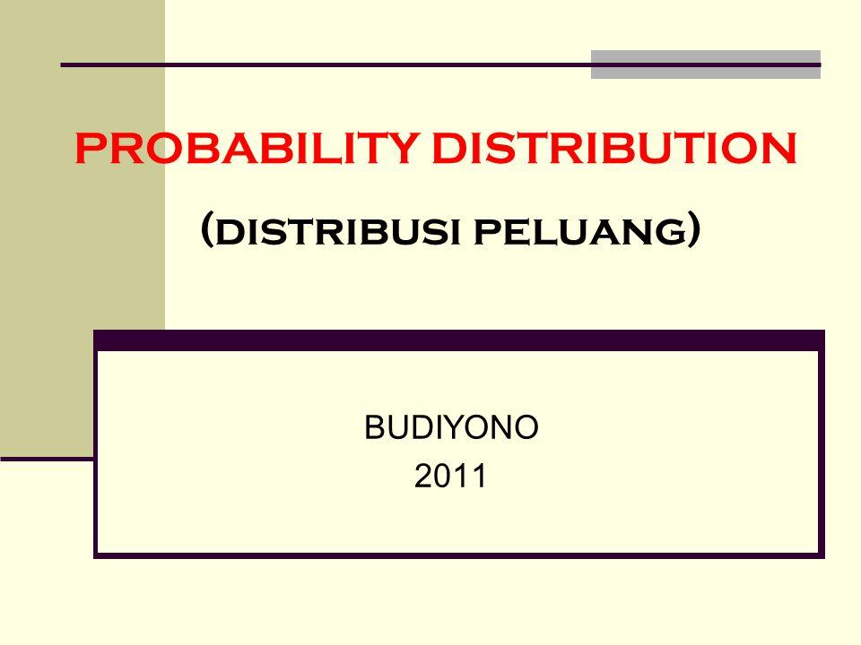 PROBABILITY DISTRIBUTION BUDIYONO 2011 (distribusi peluang)