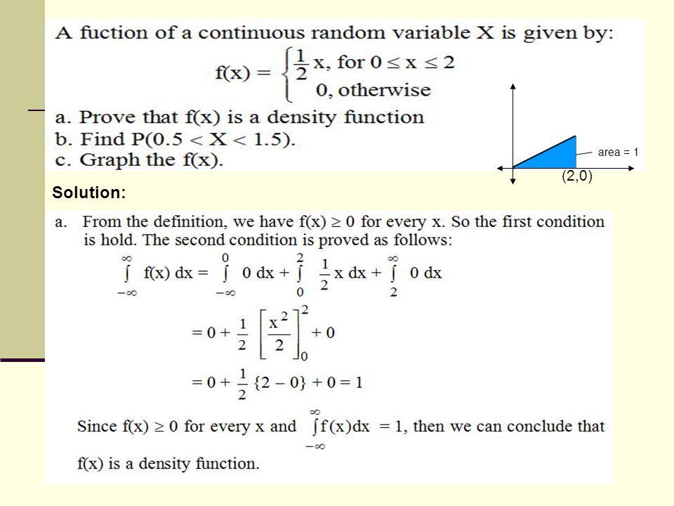 Solution: (2,0) area = 1
