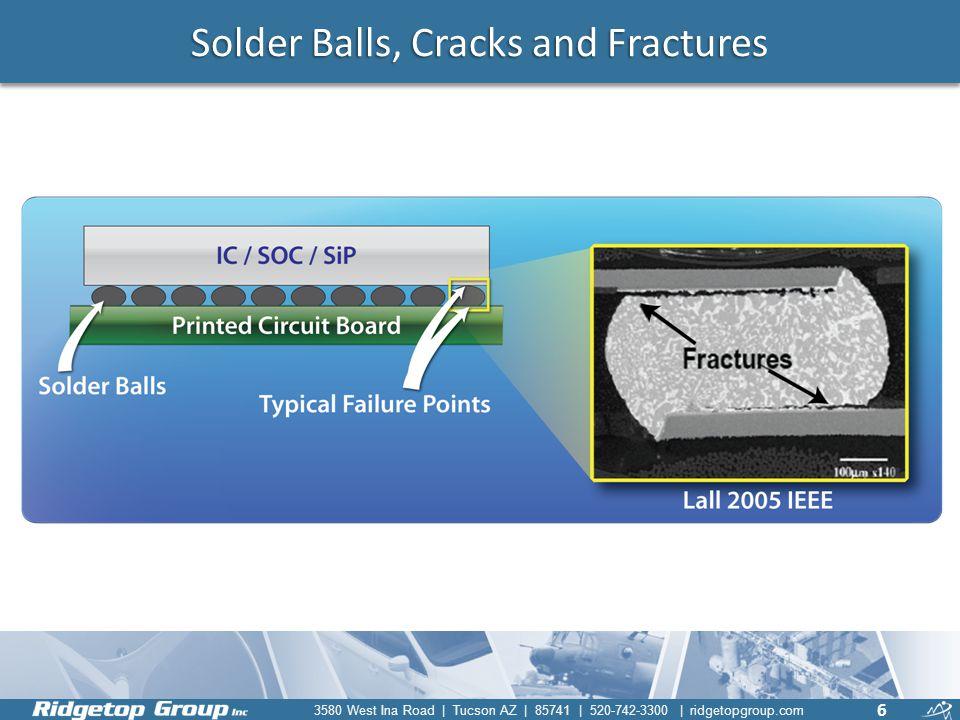 3580 West Ina Road | Tucson AZ | 85741 | 520-742-3300 | ridgetopgroup.com Solder Balls, Cracks and Fractures 6