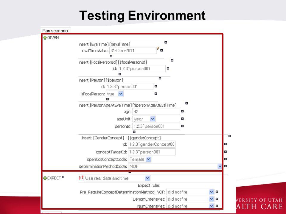 Testing Environment