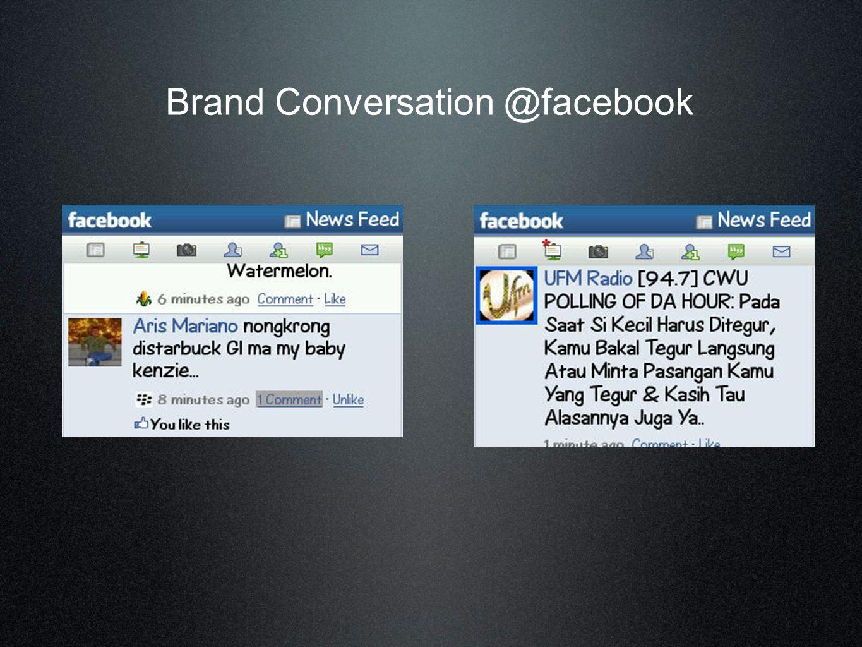 Brand Conversation @facebook