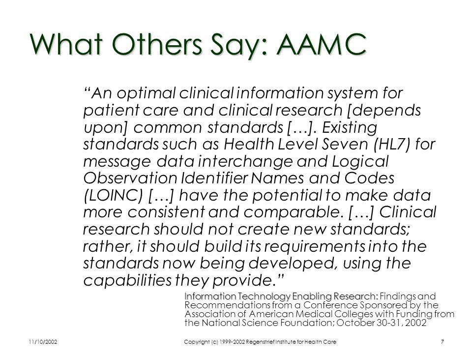 11/10/2002Copyright (c) 1999-2002 Regenstrief Institute for Health Care8 HL7 Reference Information Model (UML)