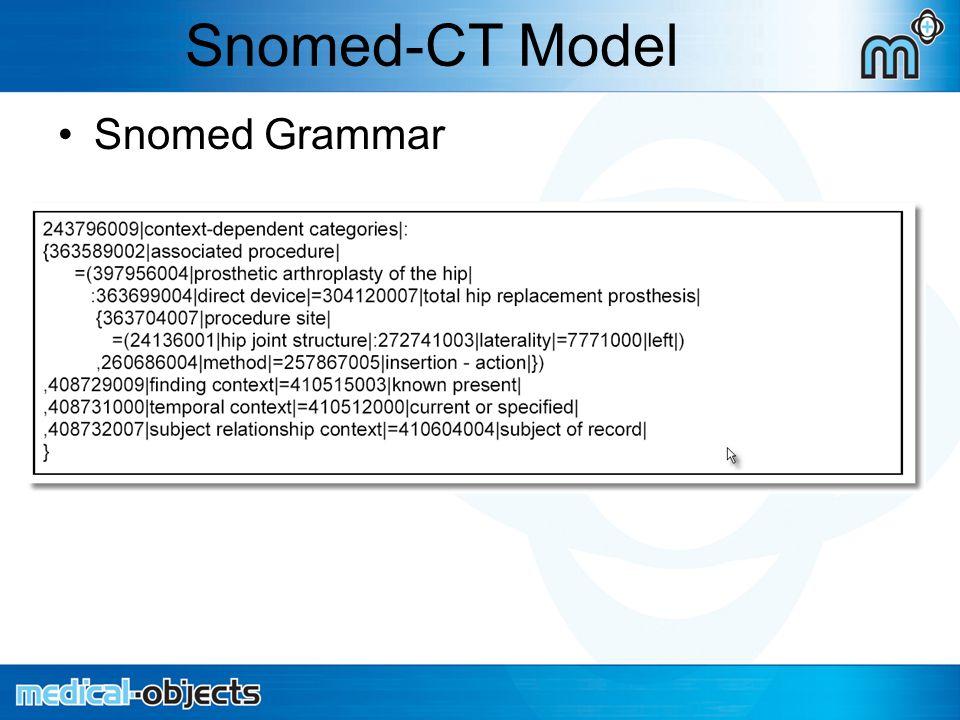 Snomed-CT Model Snomed Grammar