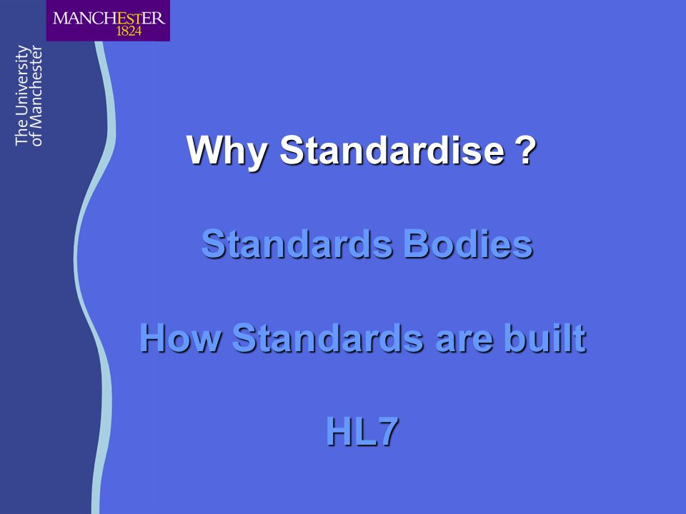 Standards An Observation Labour intensive process Costly to participants Economic viability: Revenue from process Revenue from result