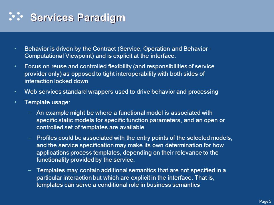 Page 6 Document Paradigm The CDA and SPL specifications establish an implicit document interoperability paradigm where there is a single fixed static model.