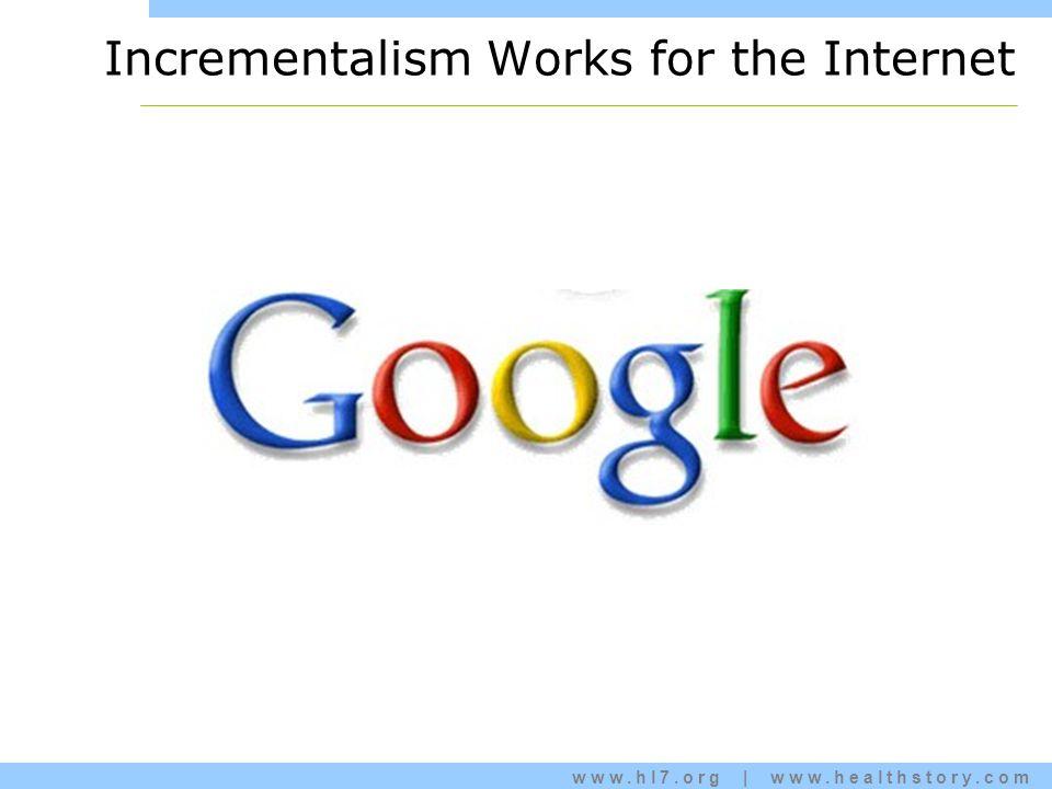 www.hl7.org | www.healthstory.com Incrementalism Works for the Internet