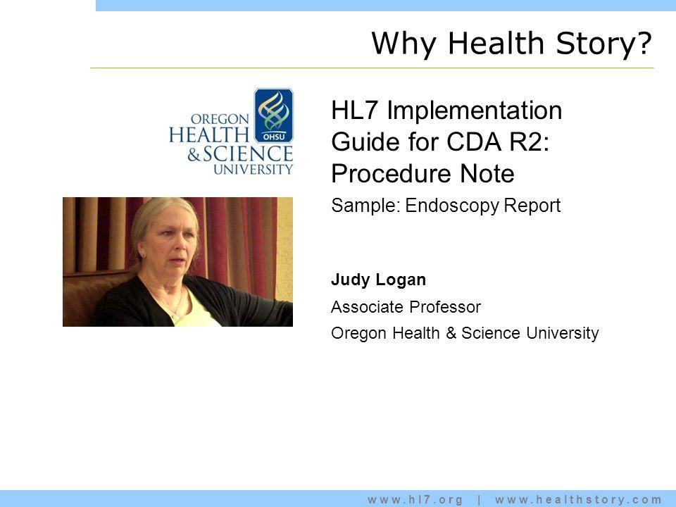 www.hl7.org | www.healthstory.com Why Health Story.