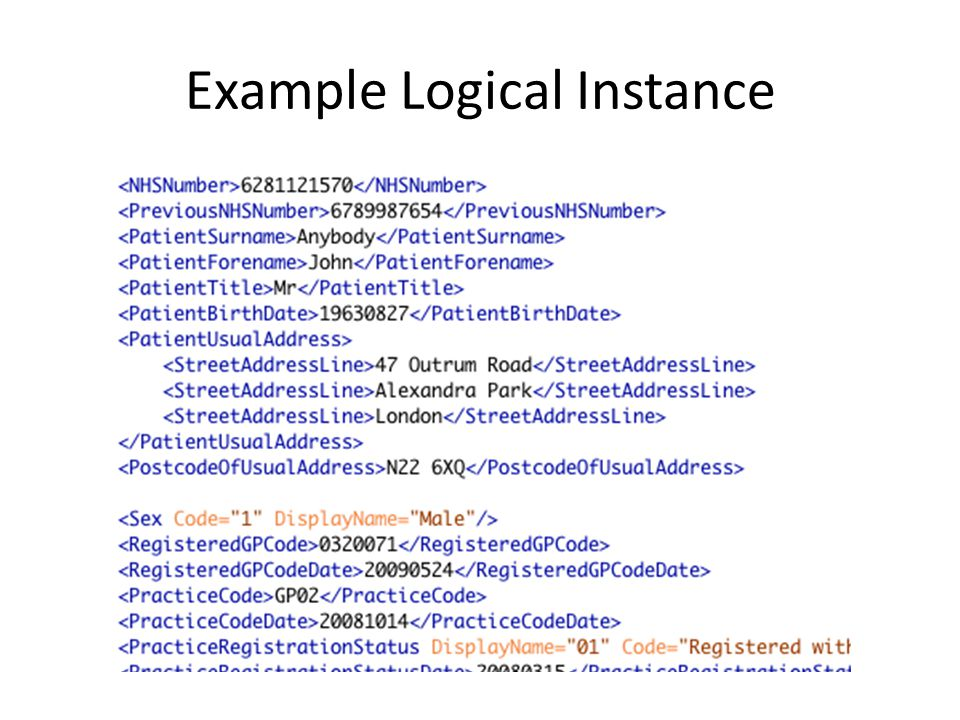 Example Logical Instance