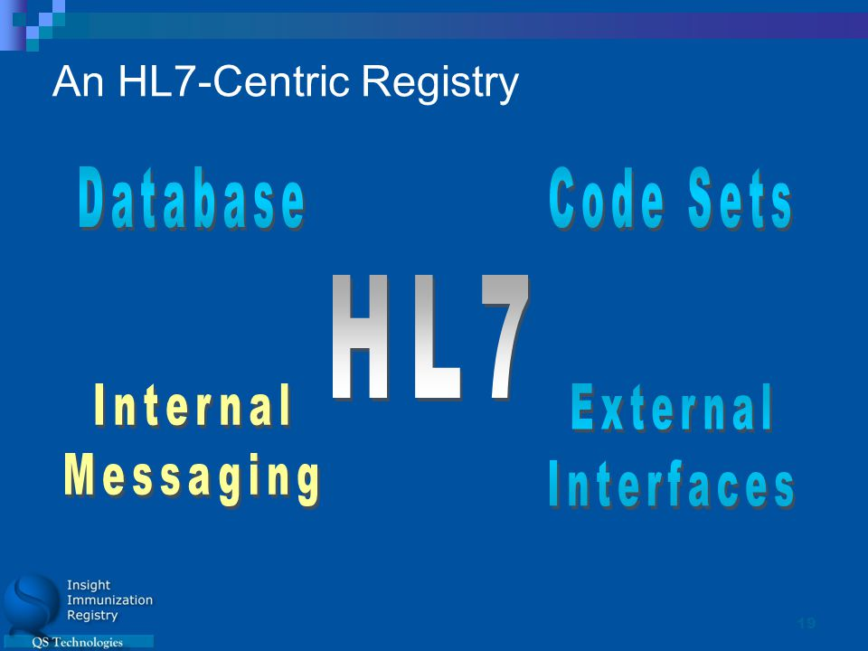 19 An HL7-Centric Registry