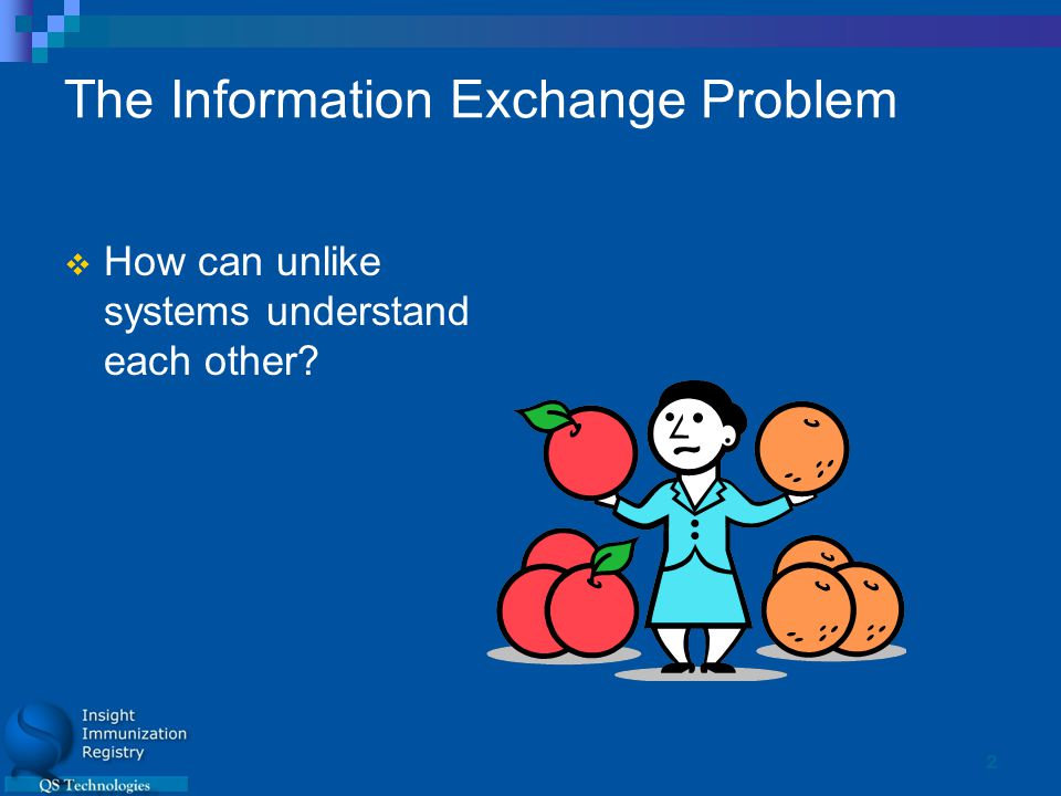 2 The Information Exchange Problem  How can unlike systems understand each other