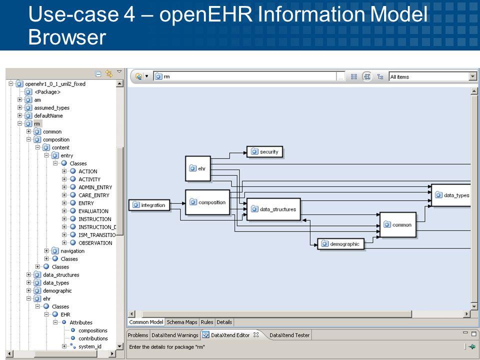 © 2009 Progress Software Corporation 40 Use-case 4 – openEHR Information Model Browser
