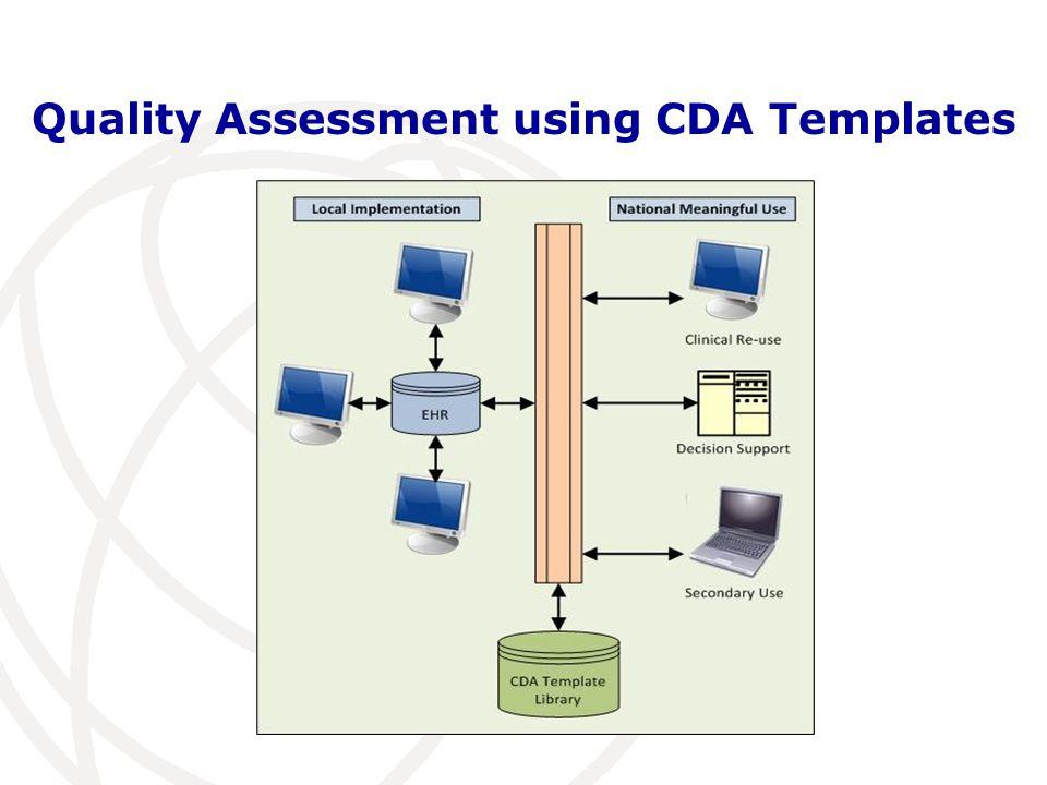 Quality Assessment using CDA Templates