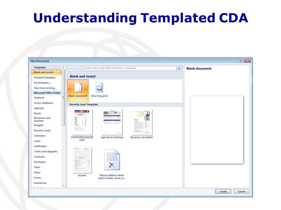 Understanding Templated CDA
