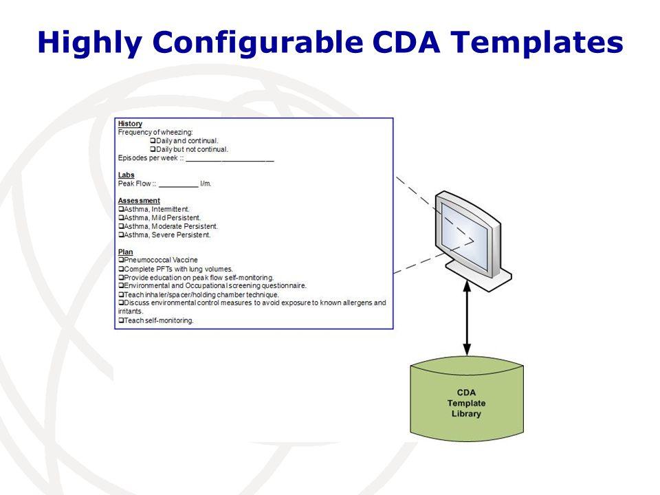 Highly Configurable CDA Templates