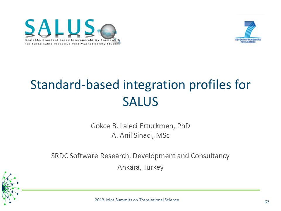 Standard-based integration profiles for SALUS Gokce B.