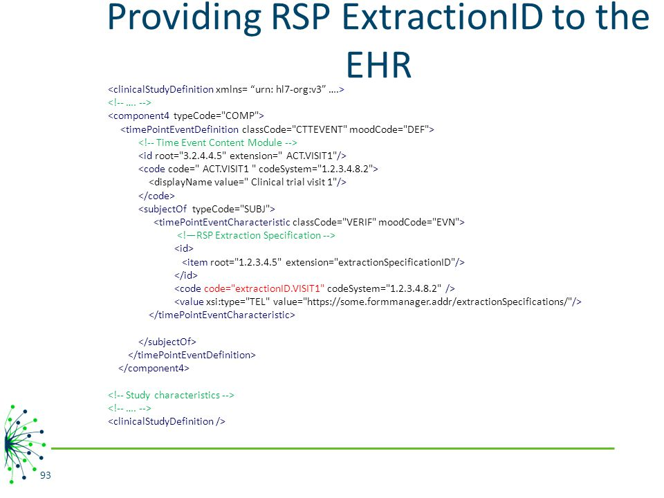 Providing RSP ExtractionID to the EHR 93
