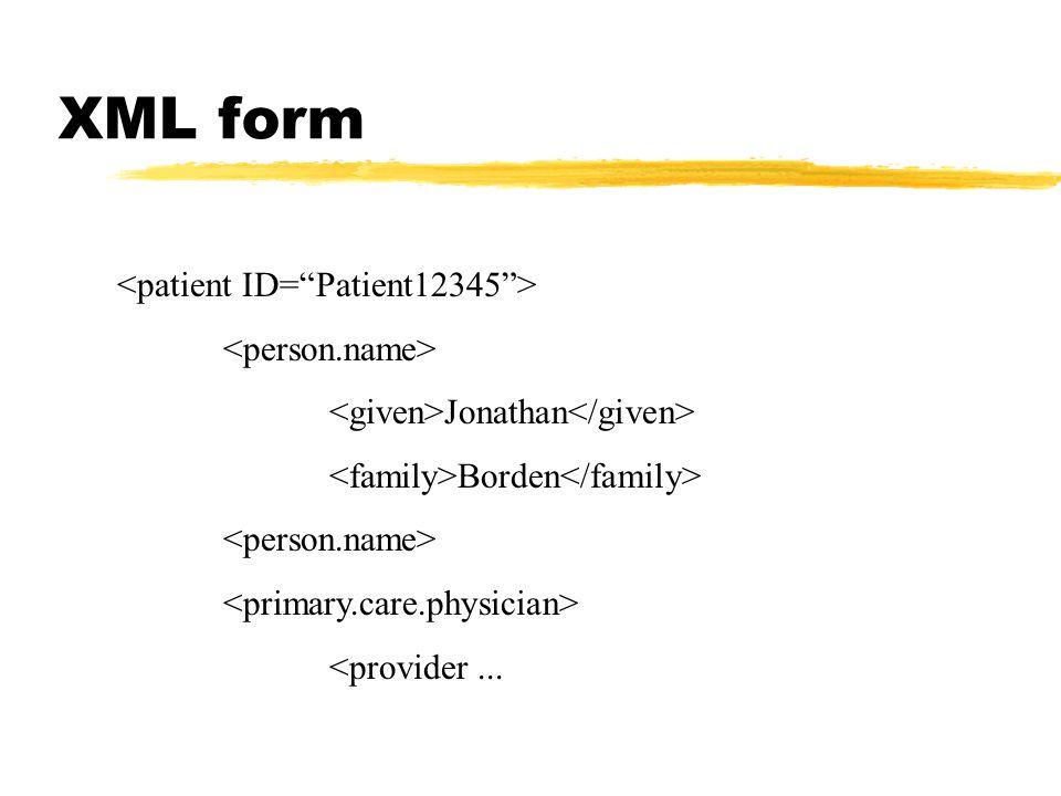 XML form Jonathan Borden <provider...