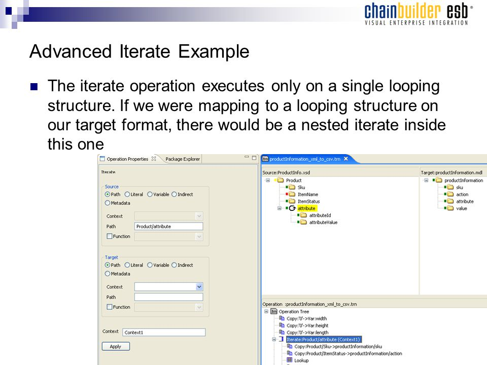 Advanced Iterate Example The iterate operation executes only on a single looping structure.