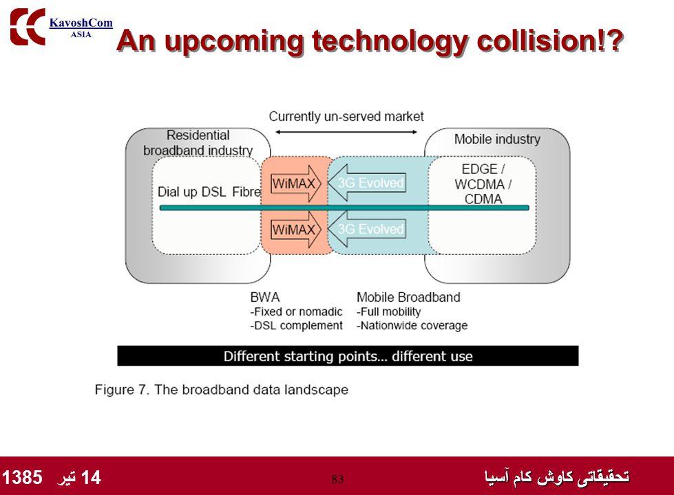 تحقیقاتی کاوش کام آسیا تحقیقاتی کاوش کام آسیا 14 تیر 1385 83 An upcoming technology collision!?