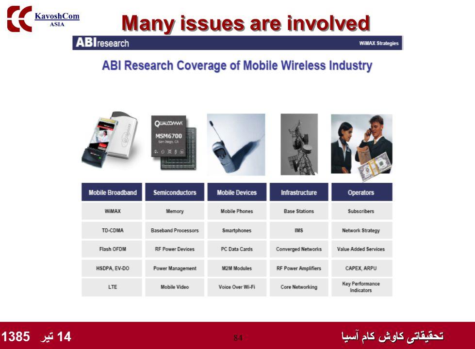 تحقیقاتی کاوش کام آسیا تحقیقاتی کاوش کام آسیا 14 تیر 1385 84 Many issues are involved