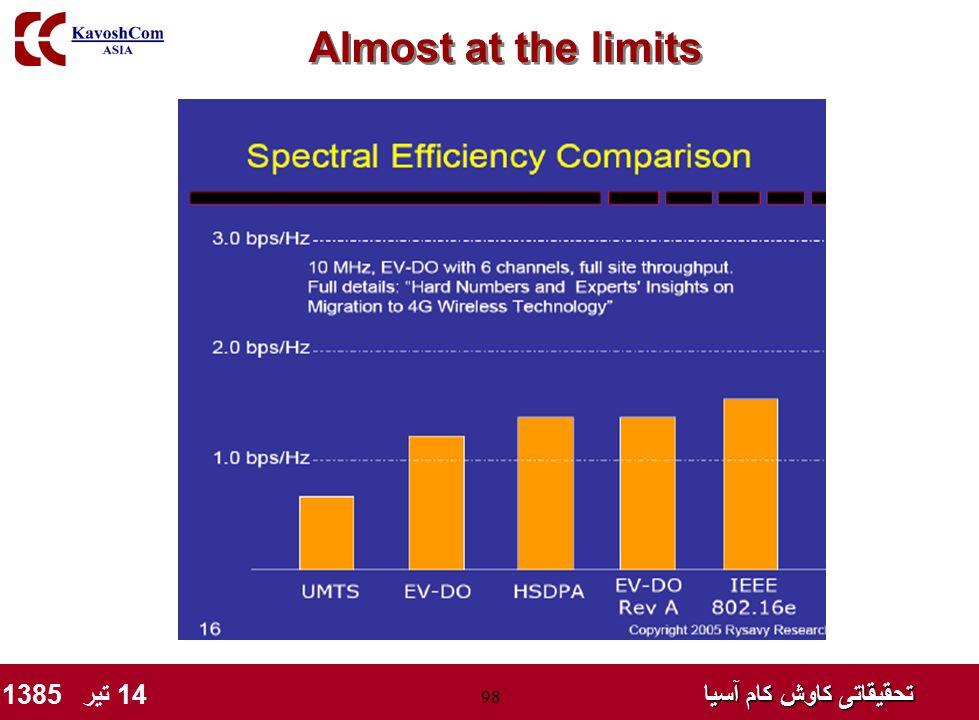 تحقیقاتی کاوش کام آسیا تحقیقاتی کاوش کام آسیا 14 تیر 1385 98 Almost at the limits