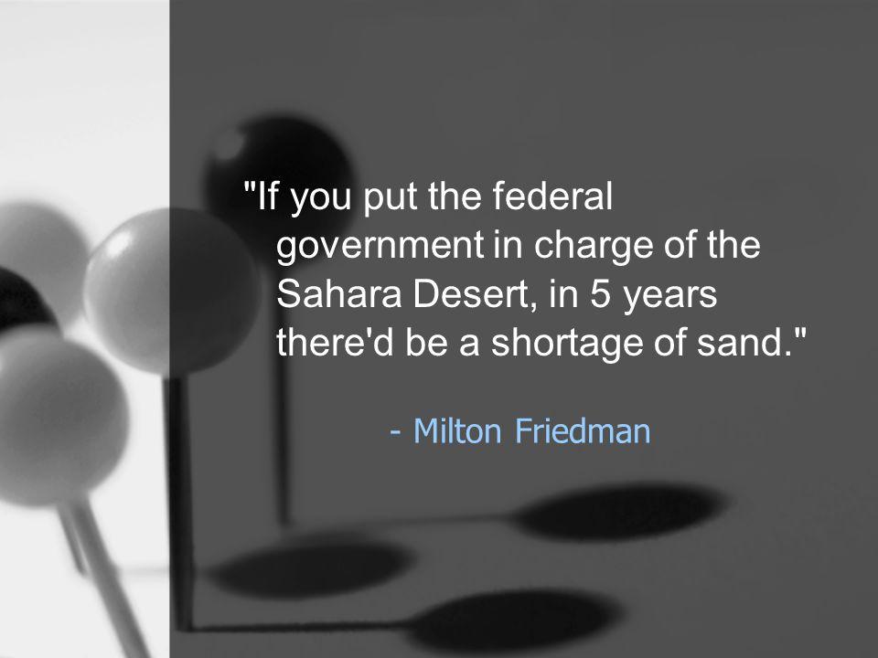 - Milton Friedman
