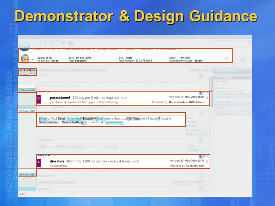 Demonstrator & Design Guidance